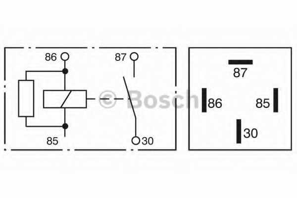 Реле рабочего тока BOSCH  / 0332019110 - изображение 2