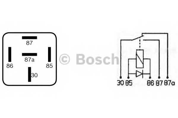 Реле рабочего тока BOSCH  / 0332209204 - изображение 2