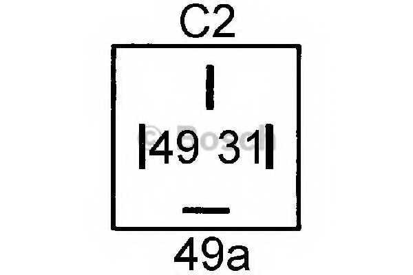Прерыватель указателей поворота BOSCH 0 335 200 041 - изображение 1