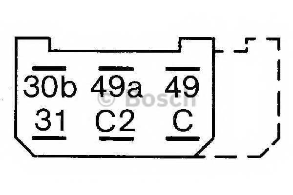 Прерыватель указателей поворота BOSCH 0 335 215 154 - изображение 1