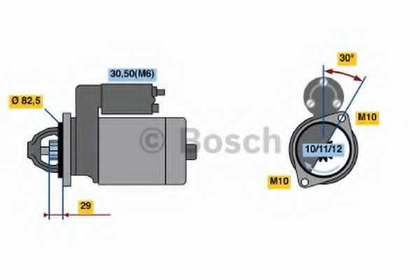 Стартер BOSCH 0 986 017 260 - изображение