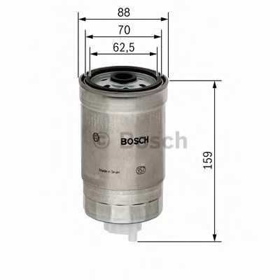 Фильтр топливный BOSCH  / 1457434455 - изображение