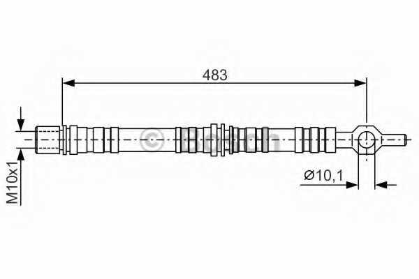 Тормозной шланг BOSCH 1 987 476 002 - изображение