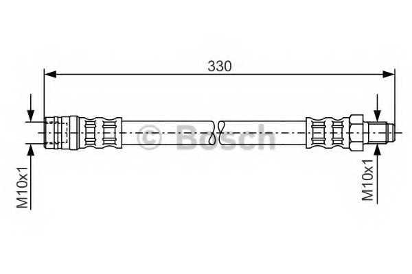 Тормозной шланг BOSCH 1 987 476 081 - изображение