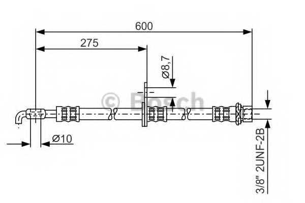 Тормозной шланг BOSCH 1 987 476 246 - изображение