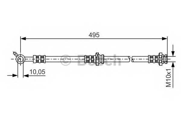 Тормозной шланг BOSCH 1 987 476 399 - изображение
