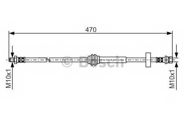 Тормозной шланг BOSCH  / 1987476885 - изображение