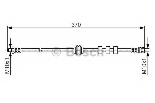 Тормозной шланг BOSCH 1 987 476 886 - изображение