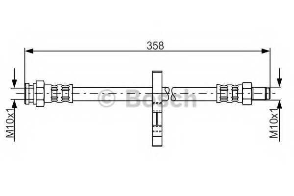 Тормозной шланг BOSCH  / 1987481019 - изображение