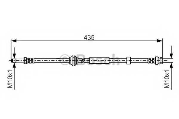 Тормозной шланг BOSCH 1 987 481 023 - изображение