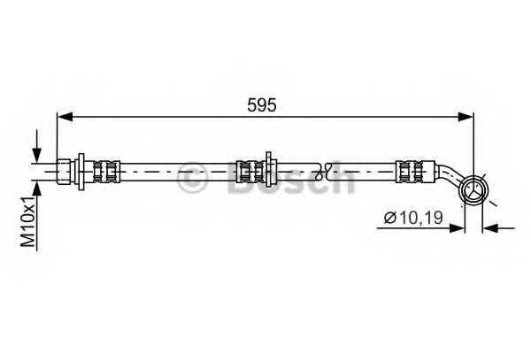 Тормозной шланг BOSCH 1 987 481 027 - изображение