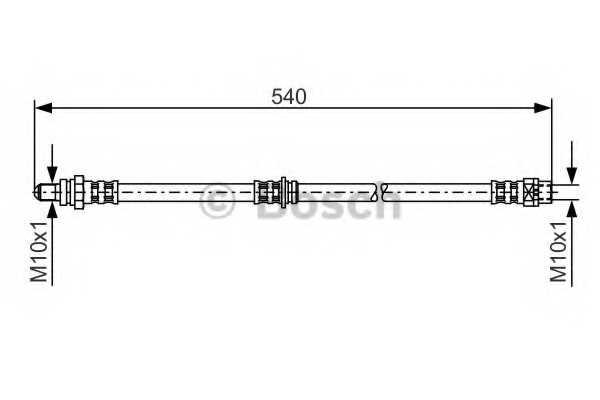 Тормозной шланг BOSCH 1 987 481 053 - изображение