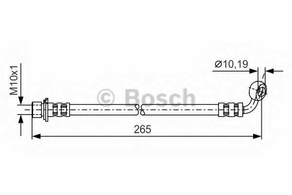 Тормозной шланг BOSCH 1 987 481 128 - изображение