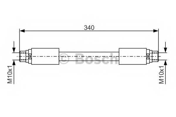 Тормозной шланг BOSCH 1 987 481 301 - изображение