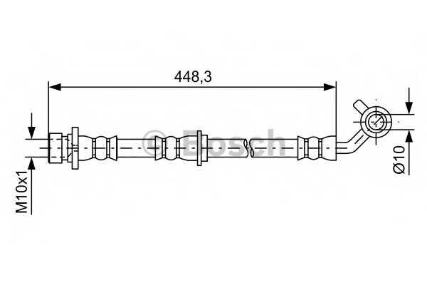 Тормозной шланг BOSCH 1 987 481 576 - изображение
