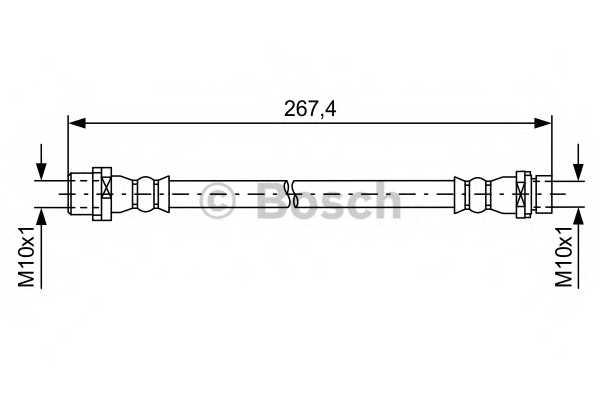 Тормозной шланг BOSCH 1 987 481 583 - изображение