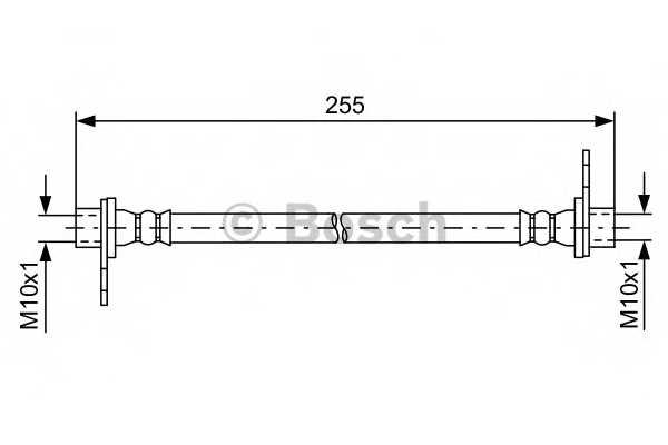 Тормозной шланг BOSCH  / 1987481586 - изображение