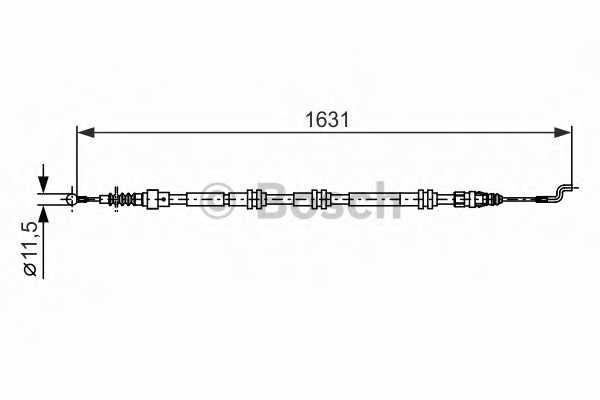 Трос стояночной тормозной системы BOSCH 1 987 482 376 - изображение