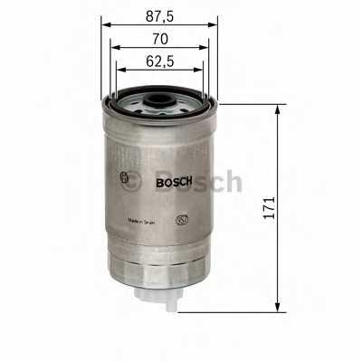 Фильтр топливный BOSCH F 026 402 013 - изображение