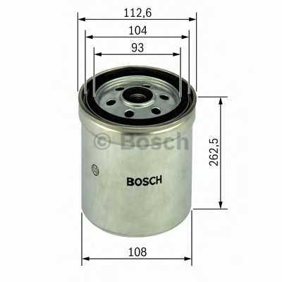 Фильтр топливный BOSCH F 026 402 017 - изображение