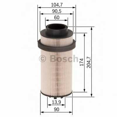 Фильтр топливный BOSCH  / F026402033 - изображение