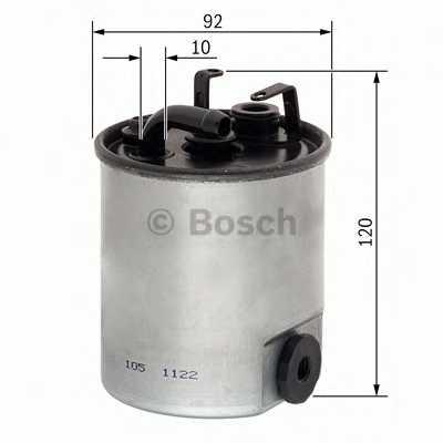 Фильтр топливный BOSCH F 026 402 044 - изображение