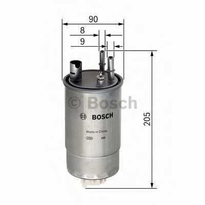 Фильтр топливный BOSCH F 026 402 054 - изображение
