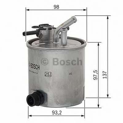 Фильтр топливный BOSCH F 026 402 059 - изображение