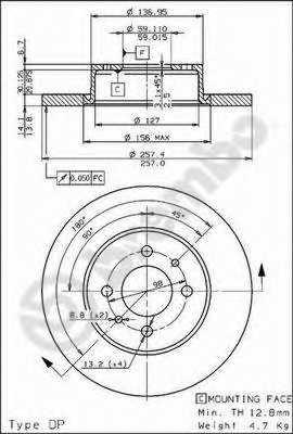 Тормозной диск BREMBO 08.4878.10 - изображение