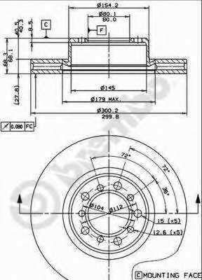 Тормозной диск BREMBO 09.4928.10 - изображение
