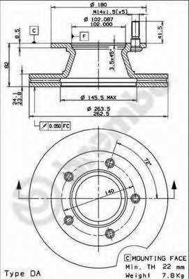 Тормозной диск BREMBO 09.7157.10 - изображение