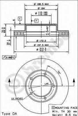 Тормозной диск BREMBO 09.9143.11 - изображение