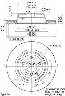 Тормозной диск BREMBO 09.A270.11 - изображение