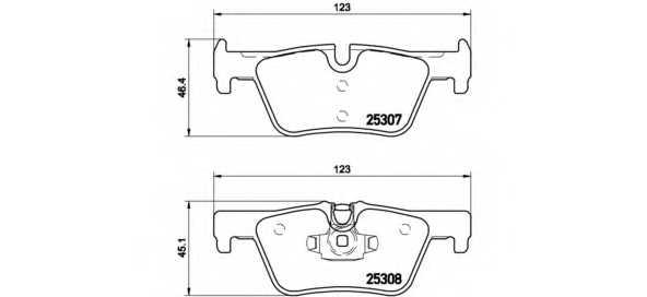Колодки тормозные дисковые BREMBO P 06 071 - изображение