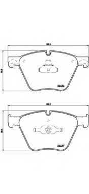 Колодки тормозные дисковые BREMBO P06073 - изображение