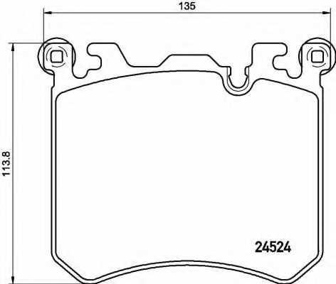 Колодки тормозные дисковые BREMBO P 06 077 - изображение