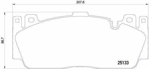Колодки тормозные дисковые для BMW 5(F10,F18), 6(F06,F12,F13) <b>BREMBO P 06 079</b> - изображение