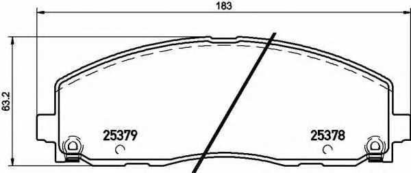Колодки тормозные дисковые BREMBO P 11 035 - изображение