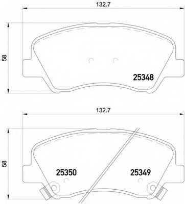 Колодки тормозные дисковые BREMBO P 18 025 - изображение