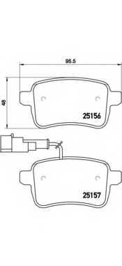 Колодки тормозные дисковые BREMBO P23133 - изображение