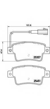 Колодки тормозные дисковые для FIAT PUNTO(199) <b>BREMBO P 23 142</b> - изображение