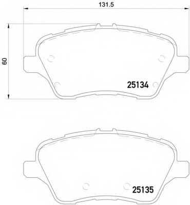 Колодки тормозные дисковые BREMBO P24151 - изображение