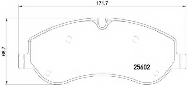 Колодки тормозные дисковые BREMBO P 24 152 - изображение