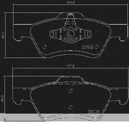 Колодки тормозные дисковые BREMBO P 24 159 - изображение