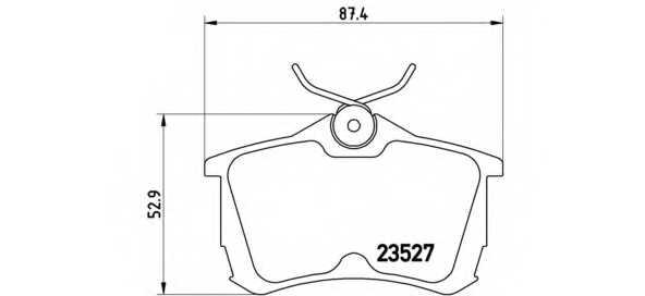 Колодки тормозные дисковые BREMBO P 28 030 - изображение