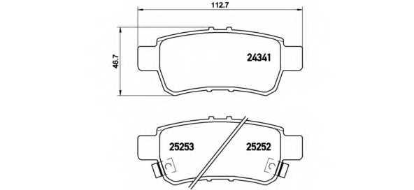 Колодки тормозные дисковые BREMBO P 28 062 - изображение