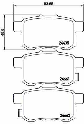 Колодки тормозные дисковые BREMBO P28072 - изображение