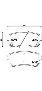 Колодки тормозные дисковые BREMBO P 30 051 - изображение