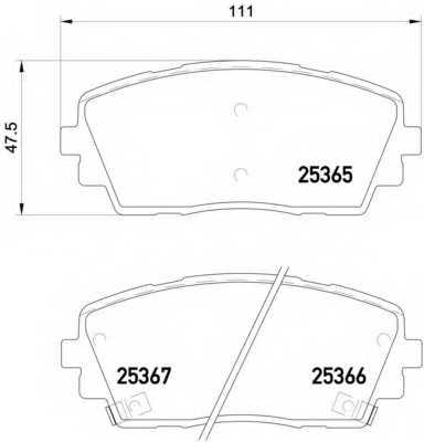 Колодки тормозные дисковые BREMBO P 30 053 - изображение