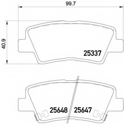 Колодки тормозные дисковые BREMBO P 30 054 - изображение